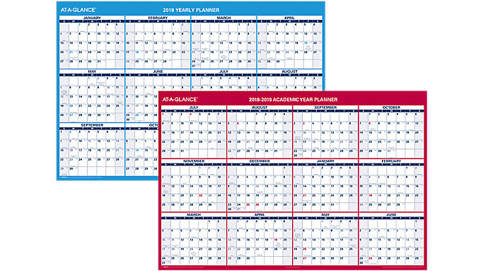 horizontal yearly erasable wall calendar pm326s at a glance