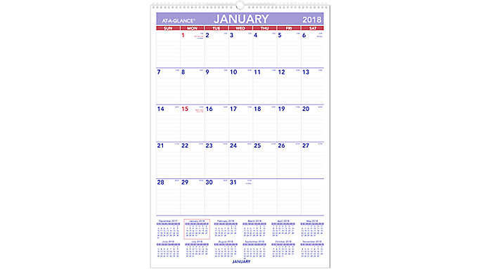 AT-A-GLANCE Monthly Wall Calendar  (PM3)