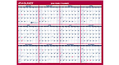 Reversible Compact Erasable Wall Calendar (Item # PM330B)