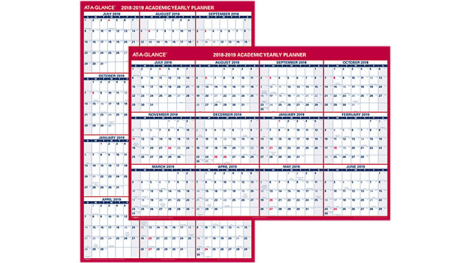 xl 2 sided academic erasable wall calendar pm36ap at a glance
