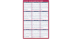 XL 2-Sided Academic Erasable Wall Calendar (Item # PM36AP)