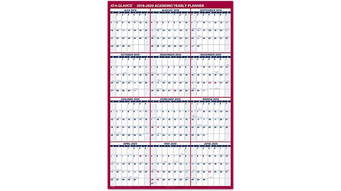 AT-A-GLANCE XL 2-Sided Academic Erasable Wall Calendar  (PM36AP)
