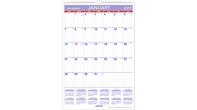 AT-A-GLANCE Monthly Wall Calendar  (PM4)
