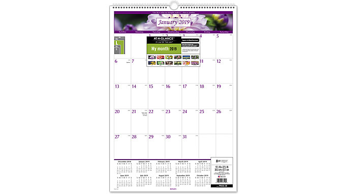 AT-A-GLANCE Floral Wall Calendar  (PM44)