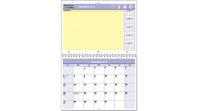 AT-A-GLANCE QuickNotes Monthly Wall Calendar  (PM50)