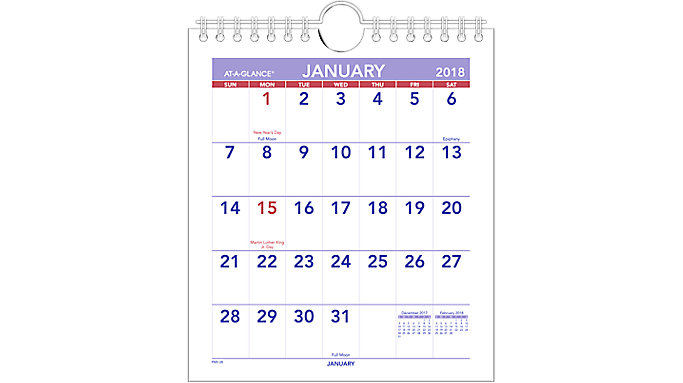 AT-A-GLANCE Mini Monthly Wall Calendar  (PM5)