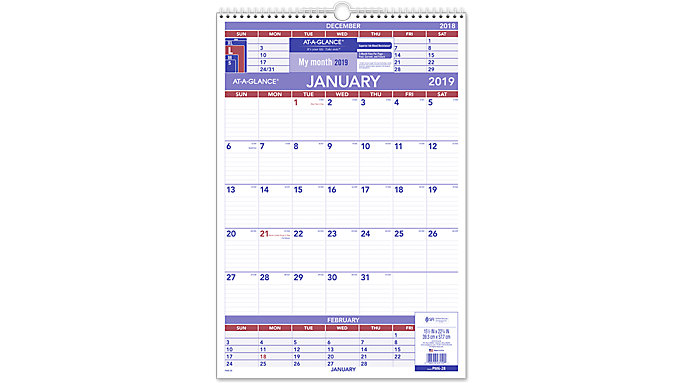 AT-A-GLANCE 3-Month Wall Calendar  (PM6)