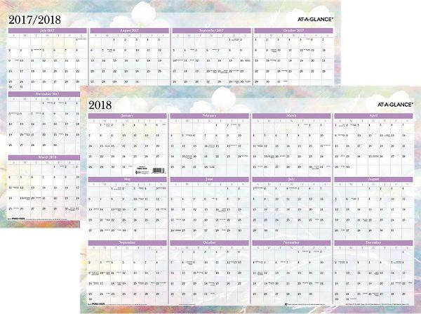 At-A-Glance Dreams Erasable Wall Calendar - Erasable Wall Calendars PM83-550-18