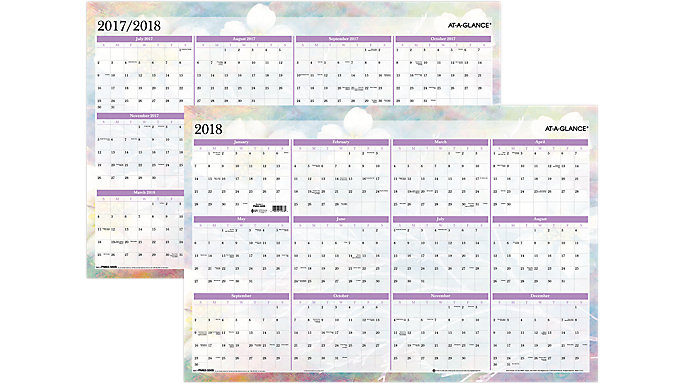AT-A-GLANCE Dreams Erasable Wall Calendar  (PM83-550)