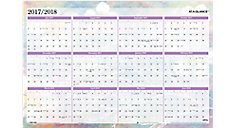 Dreams 2-Sided Academic-Regular Year Erasable Wall Calendar (Item # PM83-550S)
