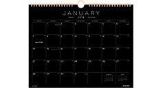 Black Paper Monthly Wall Calendar (Item # PM8BP)
