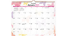Watercolors Recycled Wall Calendar (Item # PM91-707)