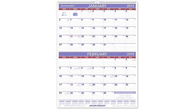 AT-A-GLANCE 2-Month Wall Calendar  (PM9)