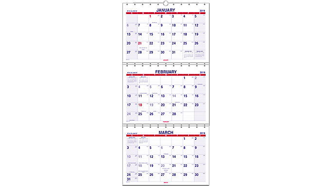 AT-A-GLANCE Look Forward 3-Month Wall Calendar  (PMLF11)
