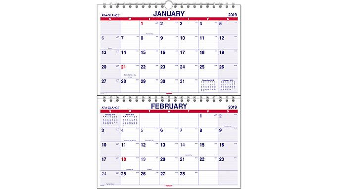 AT-A-GLANCE Look Forward Monthly Wall Calendar  (PMLF9)