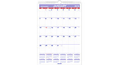 Laminated Monthly Wall Calendar (Item # PMLM02)