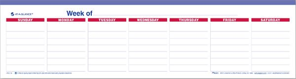 At-A-Glance Mini Weekly...