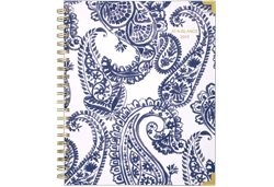 AT-A-GLANCE Paige Blue Paisley Planner