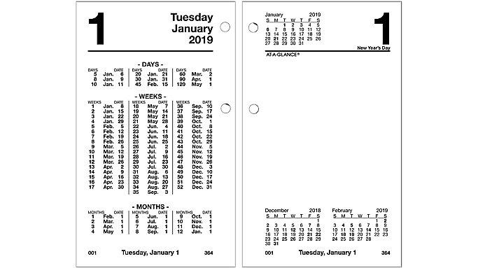 AT-A-GLANCE Financial Daily Desk Calendar Refill  (S170)