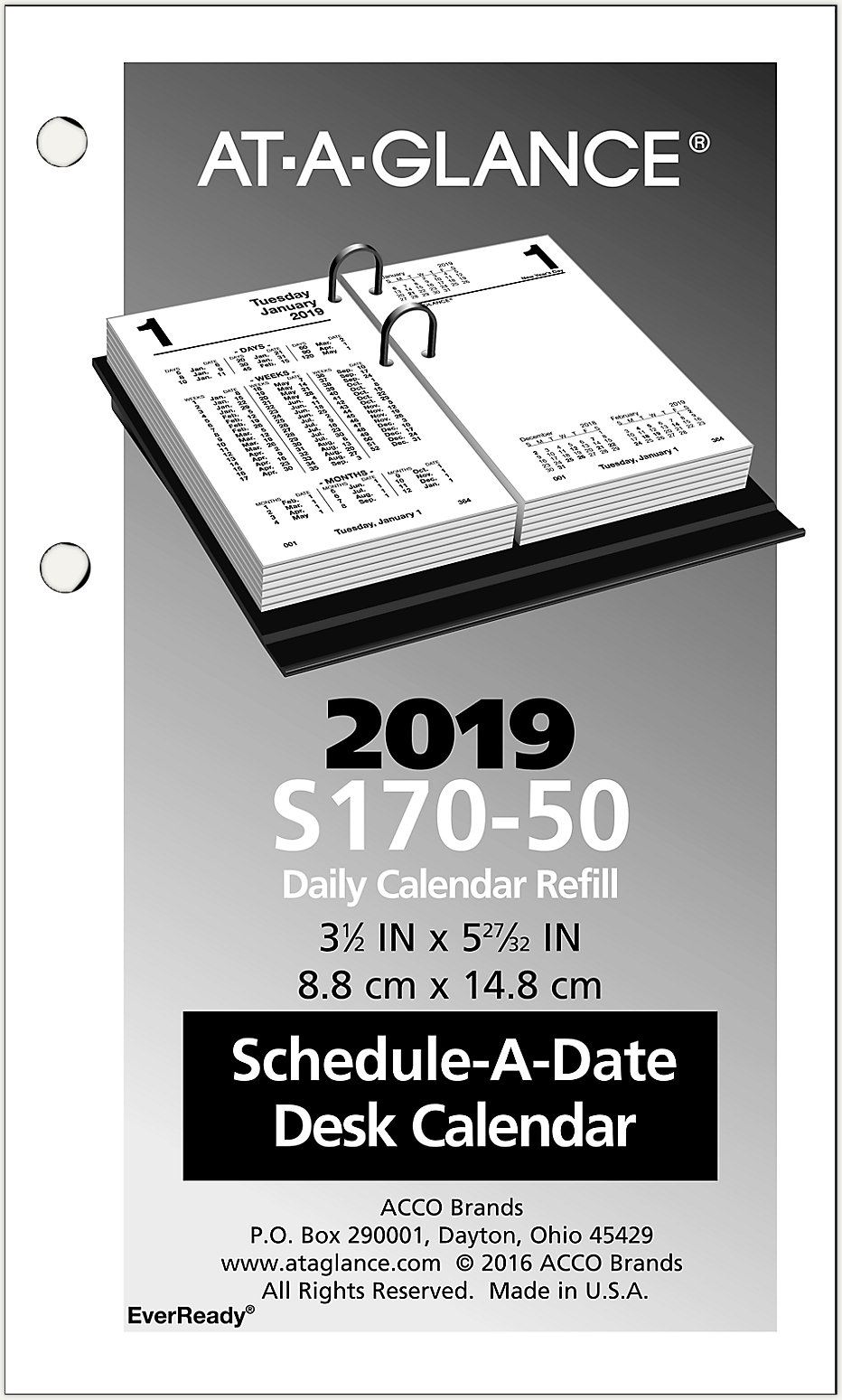 financial daily desk calendar refill s170 at a glance