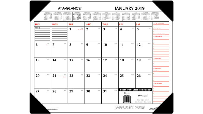 AT-A-GLANCE 2 Color Monthly Desk Pad  (SK1170)