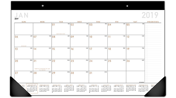 AT-A-GLANCE Contempo Compact Monthly Desk Pad  (SK14X)