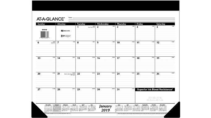 AT-A-GLANCE Refillable Monthly Desk Pad  (SK22)