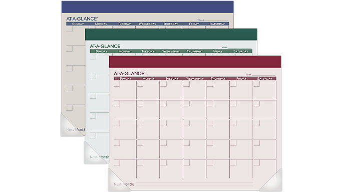 AT-A-GLANCE Recycled Undated Fashion Desk Pad  (SK225)