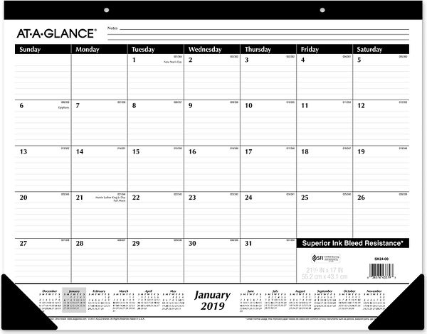 At-A-Glance Monthly Desk Pad - Desk Calendars & Desk Pads