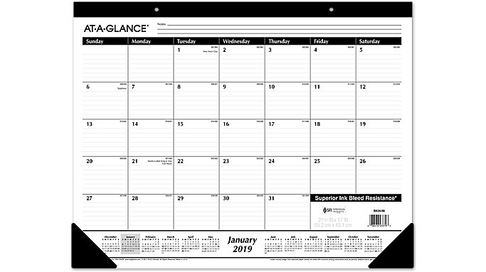 AT-A-GLANCE Monthly Desk Pad  (SK24)