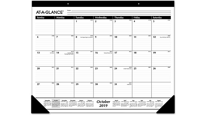 AT-A-GLANCE Academic 16-Month Desk Pad  (SK2416)