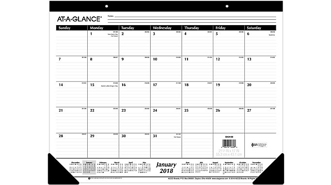 AT-A-GLANCE Monthly Desk Pad  (SK24B)