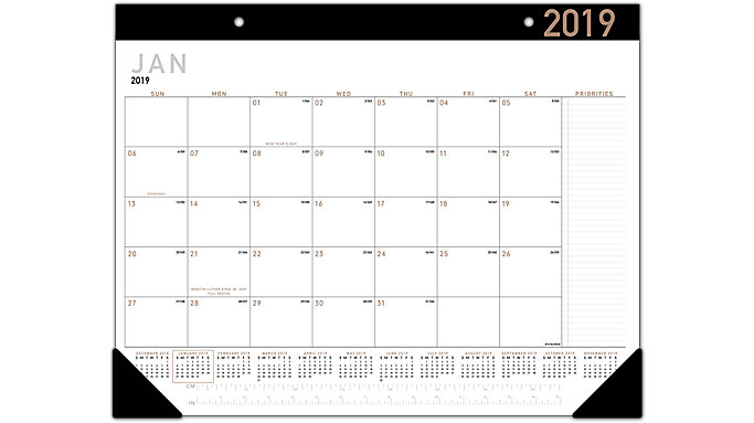 AT-A-GLANCE Contempo Monthly Desk Pad  (SK24X)