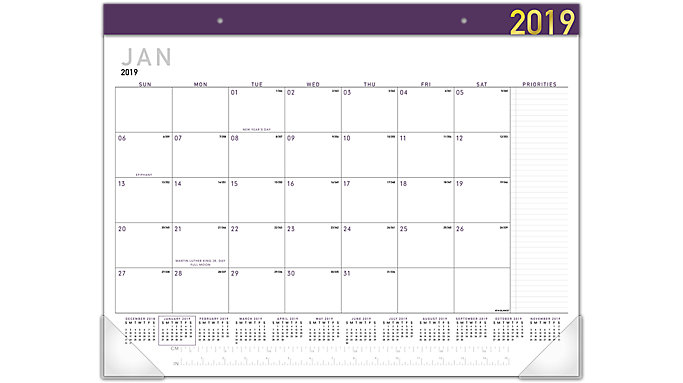 AT-A-GLANCE Contemporary Monthly Desk Pad  (SK24XF)