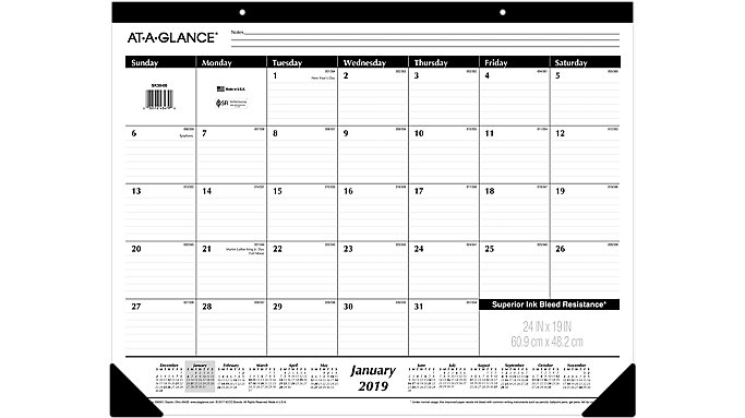 AT-A-GLANCE Monthly Desk Pad  (SK30)