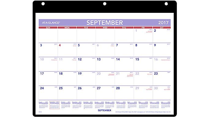 AT-A-GLANCE Academic Plan-A-Month Wall Calendar  (SK7)