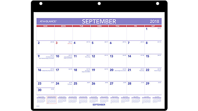 AT-A-GLANCE Academic Plan-A-Month Wall Calendar  (SK7)