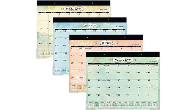 AT-A-GLANCE Poetica Monthly Desk Pad  (SK72-704)