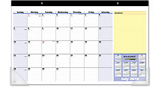 QuickNotes Compact Academic Monthly Desk Pad (Item # SK726)