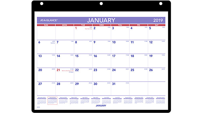AT-A-GLANCE Monthly Wall Calendar  (SK8)