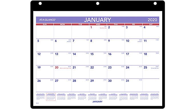 At A Glance Calendar.At A Glance Monthly Wall Calendar