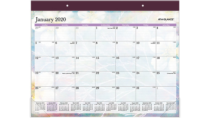 AT-A-GLANCE Dreams Monthly Desk Pad  (SK83-704)