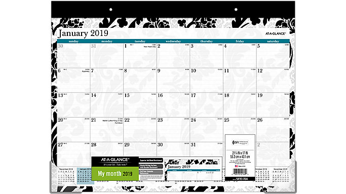 AT-A-GLANCE Madrid Monthly Desk Pad  (SK93-704)