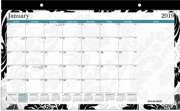 At-A-Glance Madrid Compact Monthly Desk Pad - Calendars
