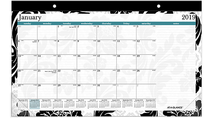 AT-A-GLANCE Madrid Compact Monthly Desk Pad  (SK93-705)