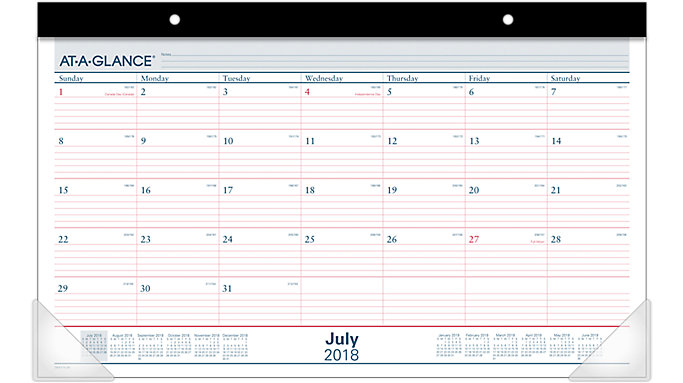 AT-A-GLANCE Academic Monthly Compact Desk Pad  (SKAY15)