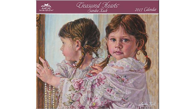 Amcal 2017 Sandra Kuck Treasured Hearts Wall Calendar - Decorative Calendars 900211