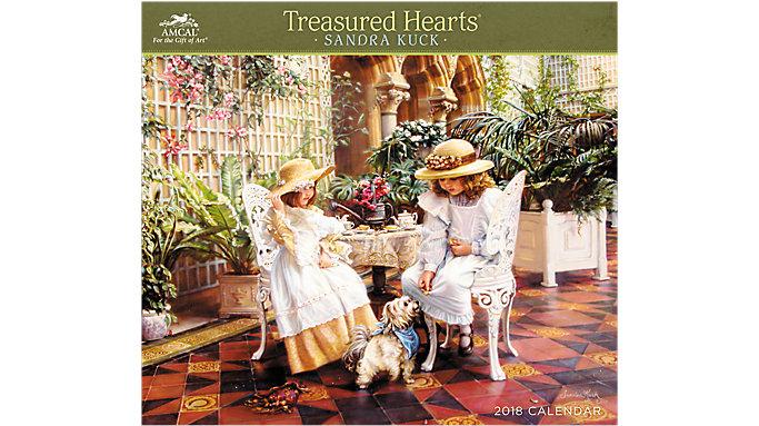 AMCAL Sandra Kuck Treasured Hearts Wall Calendar  (SKCW04)