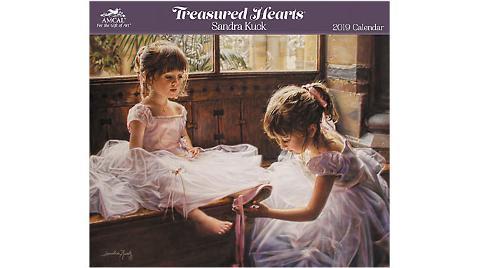 AMCAL Sandra Kuck Treasured Hearts Wall Calendar  (SKCW04)