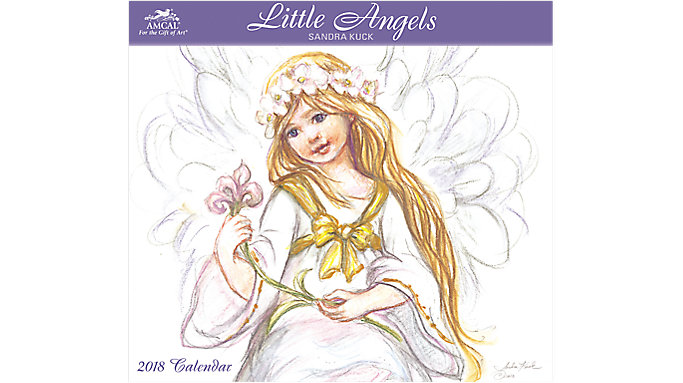 AMCAL Sandra Kuck Little Angels Wall Calendar  (SKCW14)